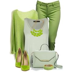 Green! by celinecucci on Polyvore featuring polyvore, fashion, style, SuperTrash, Jane Norman, Michael Antonio, Kate Spade, K. Amato, Ted Rossi and clothing