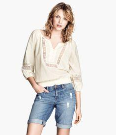 Product Detail | H&M US Peasant Blouse $34.95