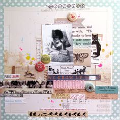 Mou Saha for October Afternoon - Public Library Get the collection @craftysteals #craftysteals #scrapbooking