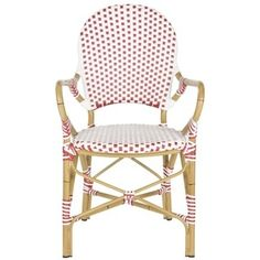 Safavieh Rural Woven Dining Hooper Red/ White Indoor Outdoor Stackable Arm Chairs (Set of 2) - Free Shipping Today - Overstock.com - 15820413 - Mobile