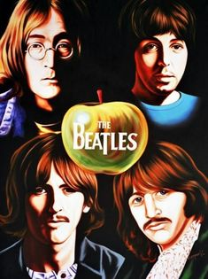 Portrait of The Beatles by Hector-Monroy on Stars Portraits Foto Beatles, Beatles Poster, Beatles Band, Beatles Photos, The Beatles Help, Beatles Love, Les Beatles, Paul Mccartney, Great Bands