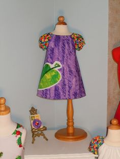 Lilly Peasant Dress  Very Hungry Caterpillar by RennyClothing, $42.00