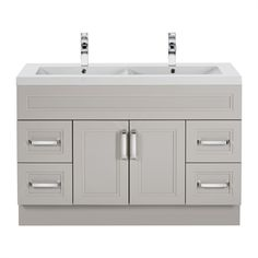Cutler Kitchen & Bath URB Urban Collection Double Bowl Vanity with 2-in Top