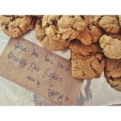 Gluten free low carb chocolate chip cookies