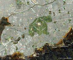 LOCALIZACION DE LA ISLA DE TENOCHTITLAN, Mapa Comparativo de la traza urbana de la Ciudad de México 1519-2012