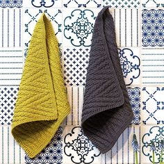 Strikkede klude - Bøger Dishcloth Knitting Patterns, Knit Dishcloth, Loom Knitting, Free Knitting, Crochet Home, Crochet Gifts, Knit Crochet, Knitted Washcloths, Knitted Shawls