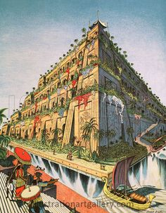 The Hanging Gardens of Babylon  Artist: Stuart Boyle 1960