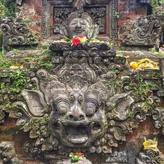 Temple relief of Barong at Ubud, Bali Barong is a lion-like creature and character in the mythology of Bali, Indonesia. He is the king of the spirits, leader of the hosts of good, and enemy of Rangda, the demon queen and mother of all spirit guarders...