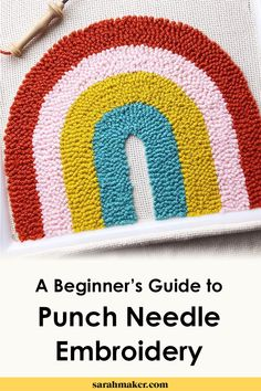How to start punch needle. A punch needle tutorial for beginners with step by s. How to start punch needle. A punch needle tutorial for beginners with step by step instructions an Embroidery Tools, Embroidery Needles, Embroidery For Beginners, Knitting For Beginners, Hand Embroidery, Sweater Embroidery, Knitting Designs, Knitting Projects, Knitting Patterns