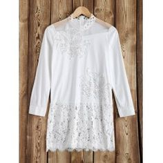 SHARE & Get it FREE | Embroidered Rhinestone Embellished Lace Insert DressFor Fashion Lovers only:80,000+ Items • FREE SHIPPING Join Twinkledeals: Get YOUR $50 NOW!