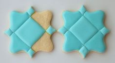 Tufted Teal Monogram Cookies | Make Me Cake Me