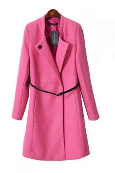 clearly, this was made for ME!!! :D PINK Tailored Collar Belt Outerwear #pink #tailored #outerware