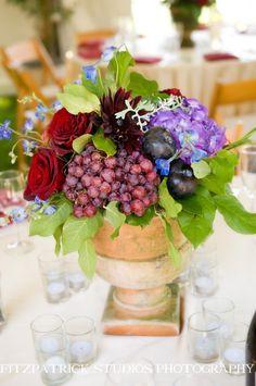 Wine inspired wedding ideas wine themed wedding centerpiece 31 days of weddings day 26 vineyard weddings unique centerpiecescenterpiece ideaswinery junglespirit Gallery