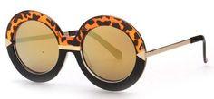 Barbie- Ombre Oversized Big Round Frame Sunglasses Luxury Sunglasses