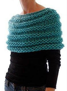 Who would like to make me this knit wrap shawl? Perfect for working so I can stay warm but still move my arms freely.