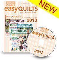 Easy Quilts 2013 Digital Compilation from ShopFonsandPorter.com