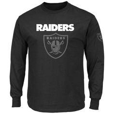 NFL Fan Apparel · Oakland Raiders Black Long Sleeve Men s Elite Tee - NWT -  FREE SHIPPING!  Majestic ad17c2130