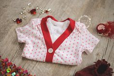 Baby Girl Cardigan Onesie and Bow Tie Set Red |  Coming Home Outfit  | Girls Valentine Outfit | Valentines Ideas |  Izzy & Isla  |  OOTD  |  Kids Trendy Apparel  |  Bow Tie Set  |  Girls Fashion  |  Baby Shower Gifts
