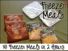 10 freezer meals in 2 hours! Not only are these meals quick and easy, but they are GOOD. Even if you have never done bulk freezer cooking before you will be glad you tried this time!
