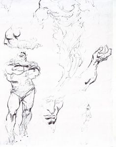 Years, and I mean years, ago I remember having an argument in a comic book store in Melbourne with some idiot who spent the better part of the aftern… Drawing Sketches, Drawings, Sketching, John Buscema, Black And White Artwork, Sketchbook Inspiration, Dark Fantasy Art, Art Studies, A Comics