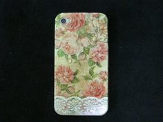 flowers and lace decoupage iphone 4s case /iPhone 4 by piimism, $16.50
