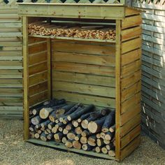 Rowlinson 4ft x 2ft (1.17m x 0.56m) Small Log Store - ShedsWorld
