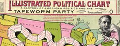 U.S. Political #map: The Tapeworm Party (1888)