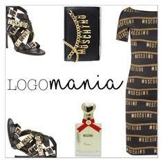 """Logomania..... Moschino"" by simona-altobelli ❤ liked on Polyvore featuring Moschino, polyvorecontest and logomania"