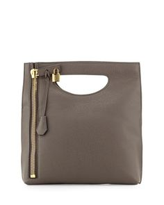 Alix+Fold-Over+Crossbody+Bag,+Dark+Gray+by+TOM+FORD+at+Neiman+Marcus.