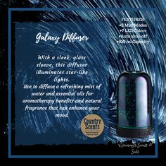Galaxy Essential Oil Diffuser Essential Oil Diffuser, Essential Oils, Country Scents Candles, Aromatherapy Benefits, Aroma Beads, Soy Candles, All The Colors, Mists, Fragrance