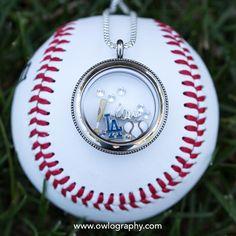 Origami Owl Dodgers MLB Locket
