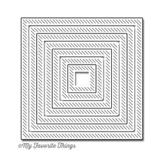 My Favorite Things INSIDE AND OUT DIAGONAL STITCHED SQUARE STAX Die-Namics…