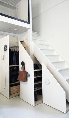 Rangement sous escalier- 97 idées et solutions créatives