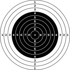rifle shooting targets printable | Air Rifle Target clip art - vector clip art online, royalty free ...