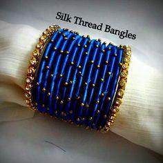 Silk Thread Jhumkas, Silk Thread Bangles Design, Silk Bangles, Bridal Bangles, Thread Jewellery, Indian Bangles, Jewellery Making, Beaded Necklace Patterns, Jewelry Patterns