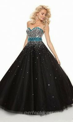 Empire Sweetheart Prom Dresses Black Long Prom Dresses 05481