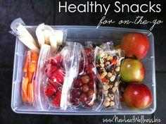 Spend 15 minutes prepping snacks on the weekend, and you're set with healthy snacks for the week.