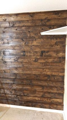DIY Stained Shiplap Wall