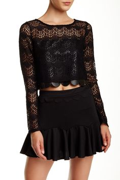 Lace Crop Blouse by S.H.E. on @HauteLook