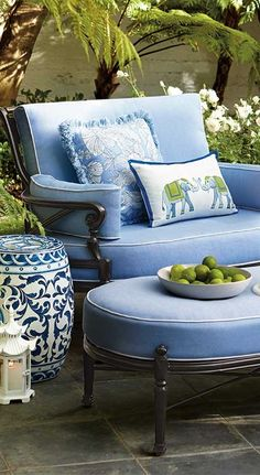 A True Blue Summer: Embrace the Hue That's Always On-trend. Click for decorating tips! | Frontgate Blog