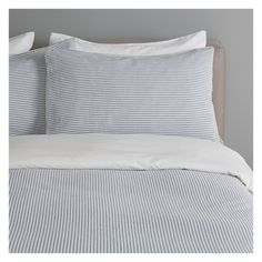 SEERSUCKER Blue and white double duvet cover | Buy now at Habitat UK