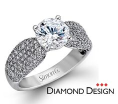 Serenade Collection.  This gorgeous 18K white engagement ring is comprised of .96ctw round white Diamonds.