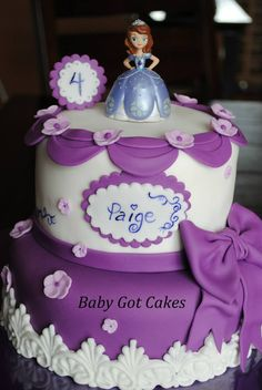 Sofia the First Cake from Baby Got Cakes