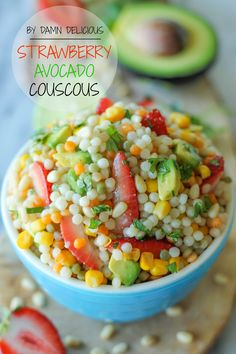 With a refreshing lime vinaigrette and fresh, summer produce, this Israeli couscous makes for a perfect summer salad! I've been somewhat obsessed with the whole strawberry-avocado combo lately so with...