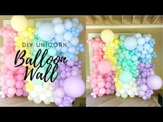 Mermaid Balloons, Princess Balloons, Pastel Balloons, Unicorn Balloon, Rainbow Balloons, Unicorn Party, Balloon Display, Balloon Backdrop, Balloon Wall