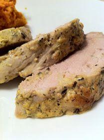 peace. love. & good food.: Garlic & Herb Dijon Roasted Pork Tenderloin