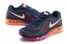 Nike Air Max 2014 Womens Dark Blue White Orange Rose Shoes