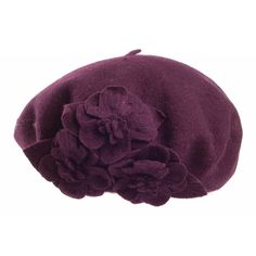 Betmar Hats Flower Beret - Charcoal from Village Hats.