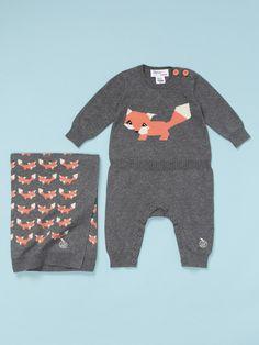 Bonnie Baby Foxy Romper Set