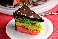 Italian Rainbow Cookie Cake by eatswellwithothers #Cake #Italian_Cookie